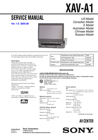 Manual de servicio Sony XAV-A1