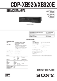 Service Manual Sony CDP-XB920E