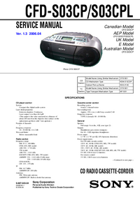 Service Manual Sony CFD-S03CP