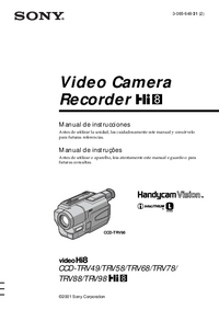 User Manual Sony CCD-TRV78