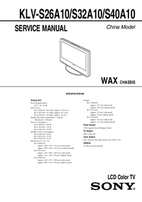 Service Manual Sony WAX