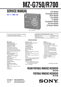 Service Manual Sony MZ-R700