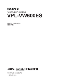 Руководство по техническому обслуживанию Sony VPL-VW600ES