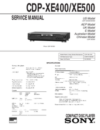 Service Manual Sony CDP-XE400