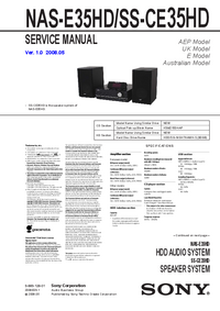 Service Manual Sony SS-CE35HD