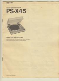 Manual del usuario Sony PS-X45