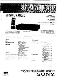 Service Manual Sony SLV-373UB
