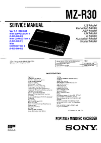 Service Manual Sony MZ-R30