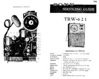 Instrukcja serwisowa Sony TRW-621