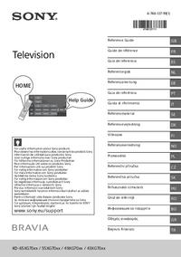 User Manual Sony KD-49XG70xx
