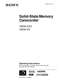 User Manual Sony PMW-F55
