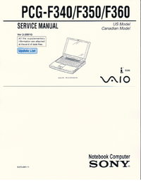 Service Manual Sony PCG-F350