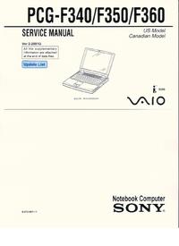 Instrukcja serwisowa Sony PCG-F340