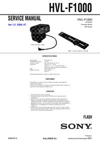 Manual de serviço Sony HVL-F1000