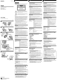 User Manual Sony HVL1000
