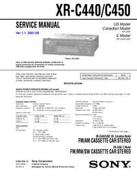Service Manual Sony XR-C440