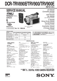 Service Manual Sony DCR-TRV890E