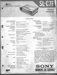 Manuale di servizio Sony SL-C7F