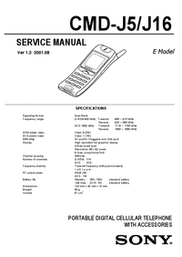 Manual de servicio Sony CMD-J16