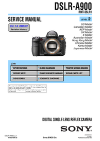 Service Manual Sony DSLR-A900