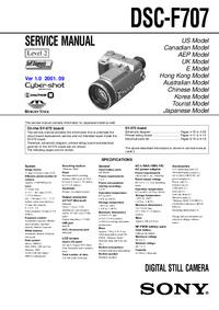 Manuale di servizio Sony DSC-F707