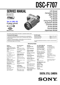 Servicehandboek Sony DSC-F707