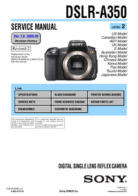 Manual de servicio Sony DSLR-A350