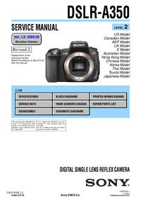 Service Manual Sony DSLR-A350