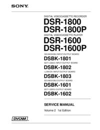 Service Manual Sony DSR-1800P