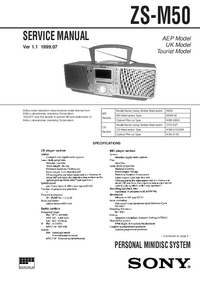 Service Manual Sony ZS-M50