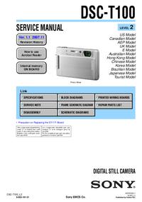 manuel de réparation Sony DSC-T100