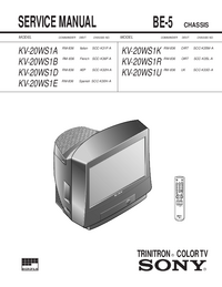 Service Manual Sony KV-20WS1R