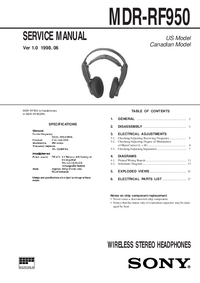 Serviceanleitung Sony MDR-RF950