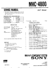 Service Manual Sony HCD-H4800