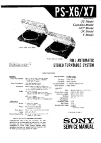Service Manual Sony PS-X6