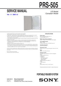 Manual de servicio Sony PRS-505