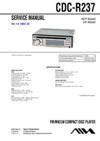 Service Manual Sony CDC-R237