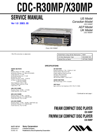 Service Manual Sony CDC-X30MP