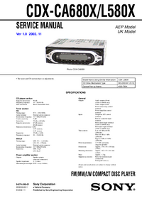 Service Manual Sony CDX-CA680X