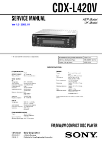 Manuale di servizio Sony CDX-L420V