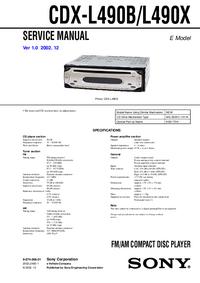 Service Manual Sony CDX-L490X