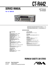 Manual de servicio Sony CT-R442