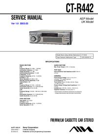 Руководство по техническому обслуживанию Sony CT-R442