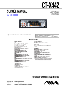 Service Manual Sony CT-X442