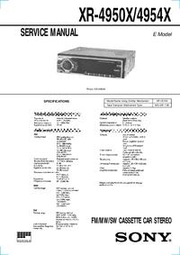 manuel de réparation Sony XR-4950X/4954X