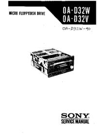 Manual de serviço Sony OA-D32V