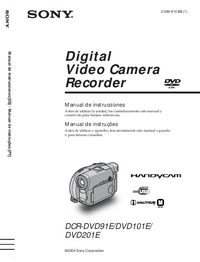 Manual del usuario Sony DCR-DVD101E