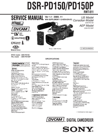 Manual de servicio Sony DSR-PD150