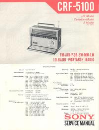 Servicehandboek Sony CRF-5100
