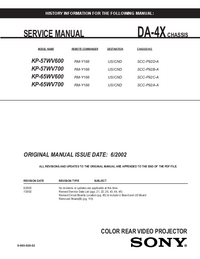 Service Manual Sony KP-65WV600
